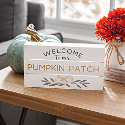 Welcome to Our Pumpkin Patch Pallet Word Block