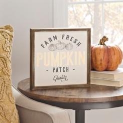 Vintage Pumpkin Patch Word Block