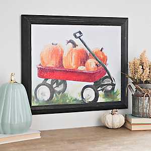 Pumpkin Wagon Wood Art