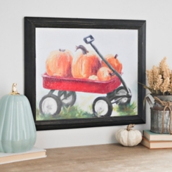 Pumpkin Wagon Wood Art
