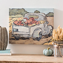 Vintage Pumpkin Truck Canvas Art Print