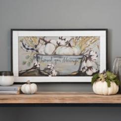 Harvest Your Blessings Framed Art Print