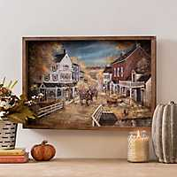 Harvest Town Framed Art Print