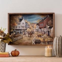 Harvest Town Framed Art Print