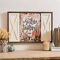 Gather Together Barn Doors Framed Art Print