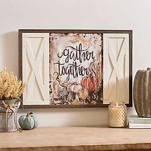 Gather Together Barn Doors Framed Art Print