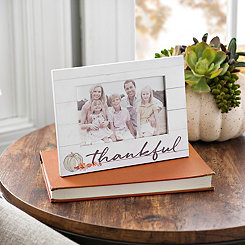 White Thankful Picture Frame, 4x6