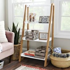Ivory 4-Tier Leaner Shelf