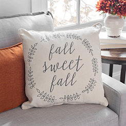 Fall Sweet Fall Striped Wreath Pillow