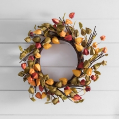 Chinese Lantern Fall Wreath
