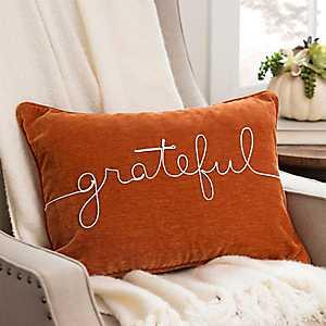 Orange Grateful Rope Accent Pillow