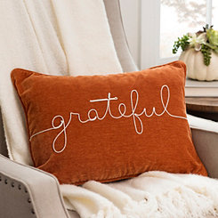 Orange Grateful Rope Accent Pillow