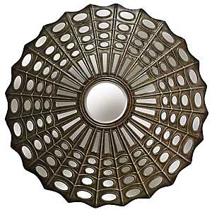 Antique Silver Transitional Metal Wall Mirror