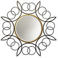 Metal Ring Frame Bevel Wall Mirror