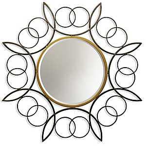 Metal Ring Frame Bevel Wall Mirror
