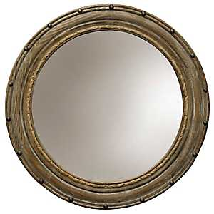 Rope and Rivets Traditional Wood Wall Mirror