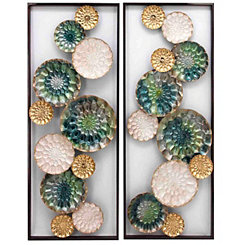 Santorini Metal Wall Panels, Set of 2