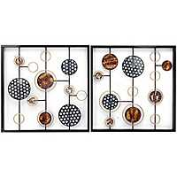 Cosmic Orientation Metal Wall Panels, Set of 2