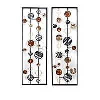 Long Cosmic Orientation Metal Panels, Set of 2
