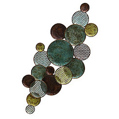 Green and Gold Circles Metal Plaque