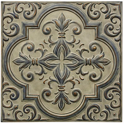 Beige Beauty Metal Medallion Wall Plaque