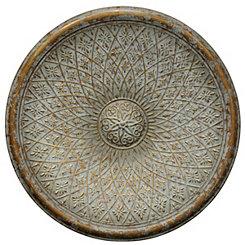 Patina Bronze Metal Medallion Wall Plaque