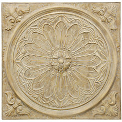 Natural Slate Metal Medallion Wall Plaque