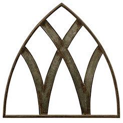 Rustic Transom Metal Arch Plaque