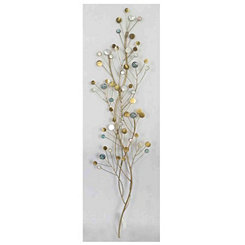Foliage Metal and Synthetic Jewel Wall Plaque