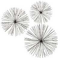 Black Spike Metal Dimensional Plaques, Set of 3