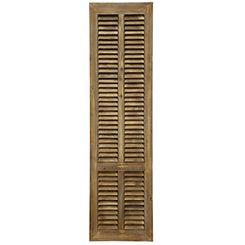 Old Shutter Weathered Wood Door Panel Wall Plaque