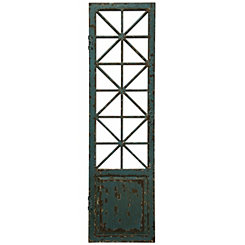 Old Window Weathered Wood Door Panel Wall Plaque