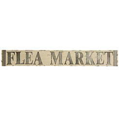 Metal and Wooden Flea Market Sign