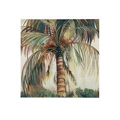 Hand-Painted Palm Tree Canvas Art Print