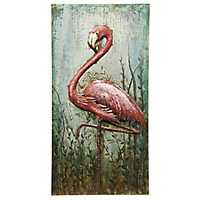 Handmade Flamingo Metal Wall Art