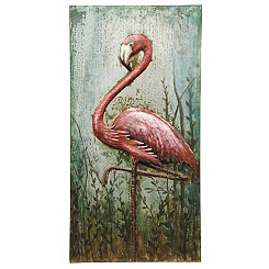 Handmade Flamingo Metal Wall Art