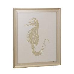 Gold Leaf Seahorse Framed Art Print