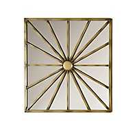 Foley Antique Gold Finish Metal Wall Mirror