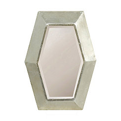 Hopkins Silver Leaf Finish Metal Wall Mirror
