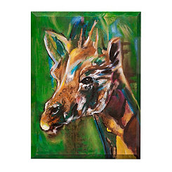 Hand Painted Water Color Giraffe Canvas Art Print