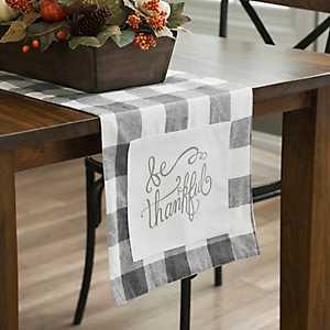 Be Thankful Buffalo Check Table Runner
