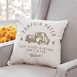 Pumpkin Patch Striped Pillow