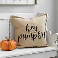Hey Pumpkin Plaid Pillow