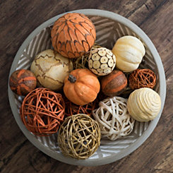 Harvest Orange and Cream Orb Set