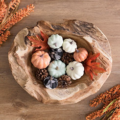 Orange, Blue, Buffalo Check Mini Pumpkin Filler