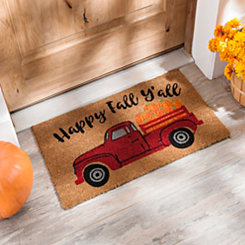 Happy Fall Y'all Truck Doormat
