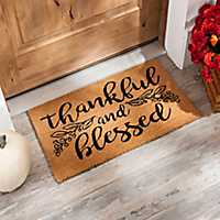 Thankful and Blessed Fall Doormat