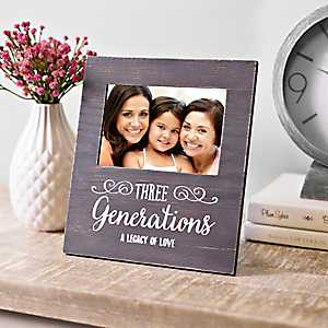 Three Generations Legacy Picture Frame, 4x6