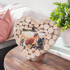 Cork Heart Picture Frame with Clip, 4x6