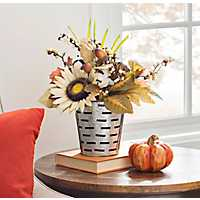 Sunflower Metal Bucket Floral Arrangement
